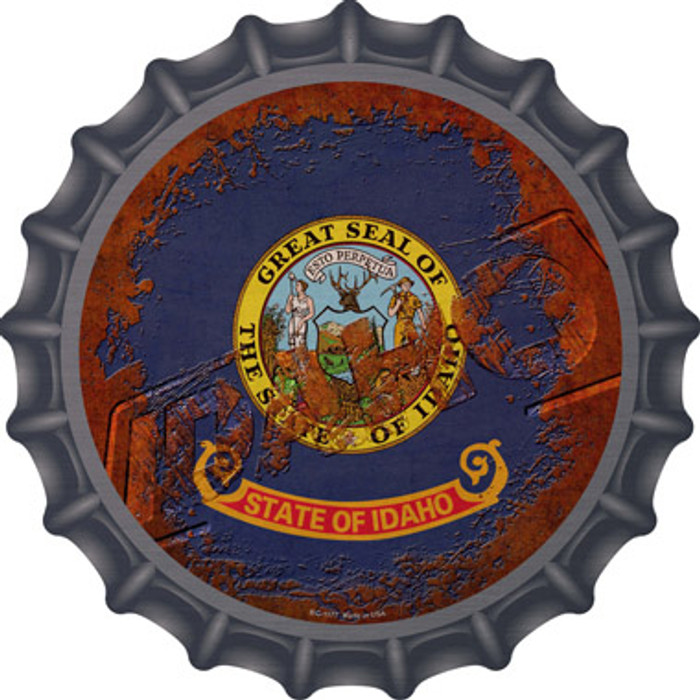 Idaho Rusty Stamped Novelty Metal Bottle Cap BC-1177