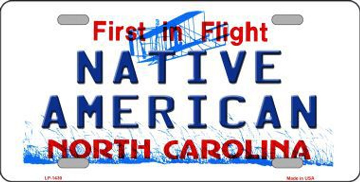 North Carolina Native American Metal Novelty License Plate