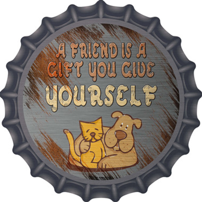 A Friend Is A Gift Novelty Metal Bottle Cap BC-1218