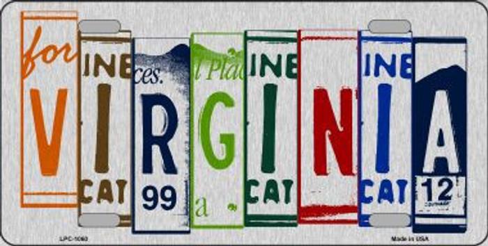 Virginia License Plate Art Brushed Aluminum Metal Novelty License Plate
