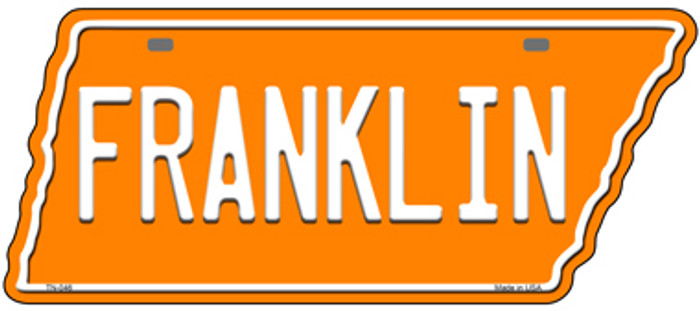 Franklin Novelty Metal Tennessee License Plate Tag TN-046
