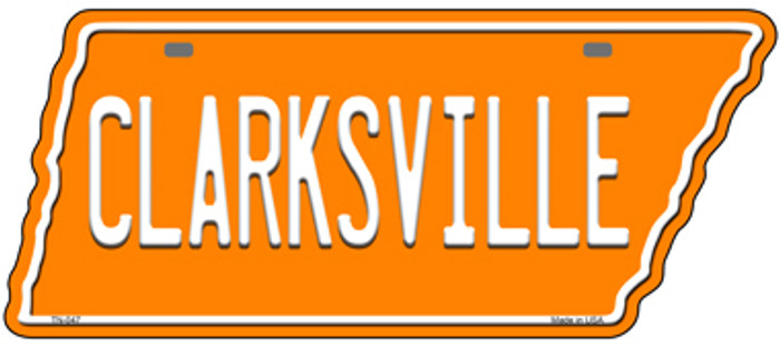 Clarksville Novelty Metal Tennessee License Plate Tag TN-047