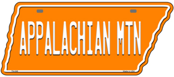 Appalachian Mtn Novelty Metal Tennessee License Plate Tag TN-049