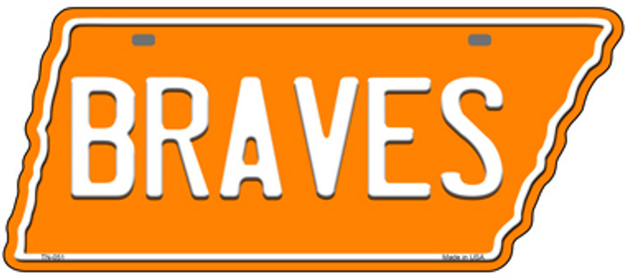 Braves Novelty Metal Tennessee License Plate Tag TN-051