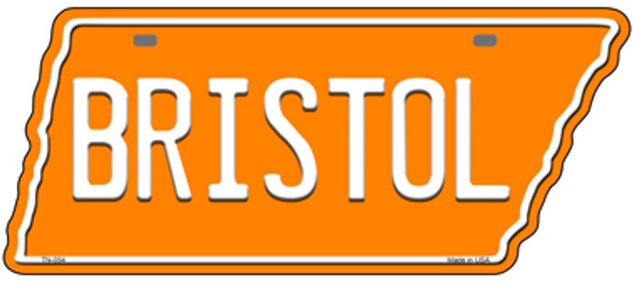 Bristol Novelty Metal Tennessee License Plate Tag TN-054