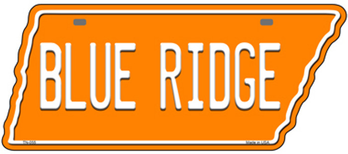 Blue Ridge Novelty Metal Tennessee License Plate Tag TN-055