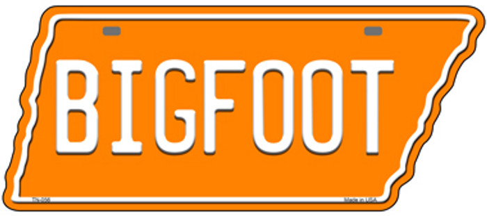 Bigfoot Novelty Metal Tennessee License Plate Tag TN-056