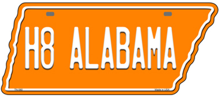H8 Alabama Novelty Metal Tennessee License Plate Tag TN-060