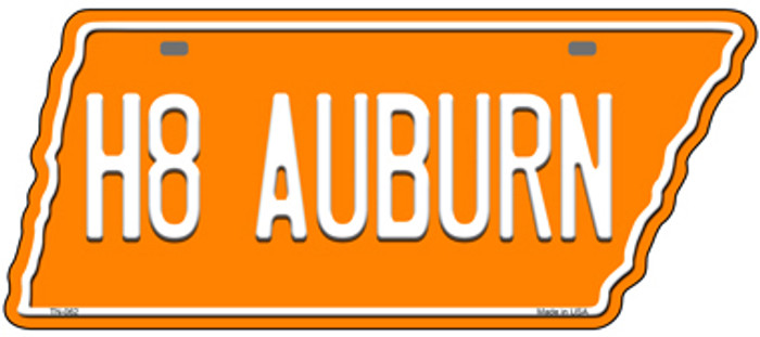 H8 Auburn Novelty Metal Tennessee License Plate Tag TN-062