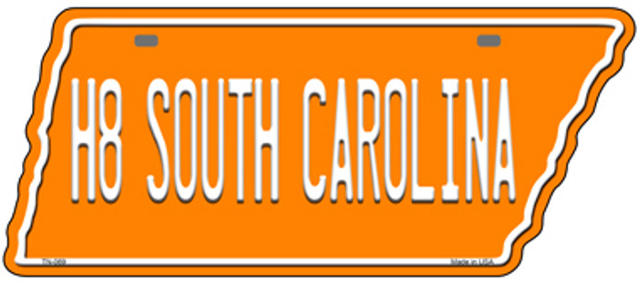 H8 South Carolina Novelty Metal Tennessee License Plate Tag TN-069