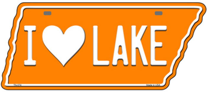 I Love Lake Novelty Metal Tennessee License Plate Tag TN-074