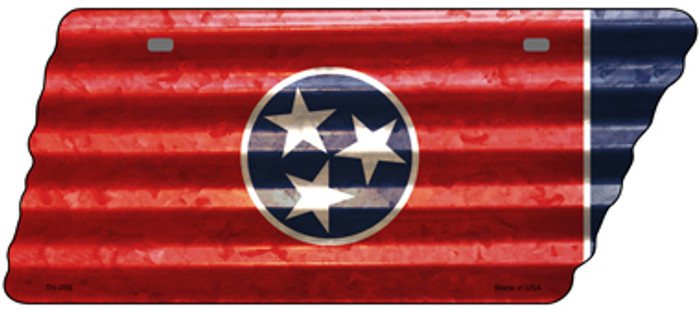 Corrugated Tennessee Flag Novelty Metal Tennessee License Plate Tag TN-088