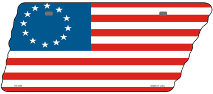 Betsy Ross American Flag Novelty Metal Tennessee License Plate Tag TN-089