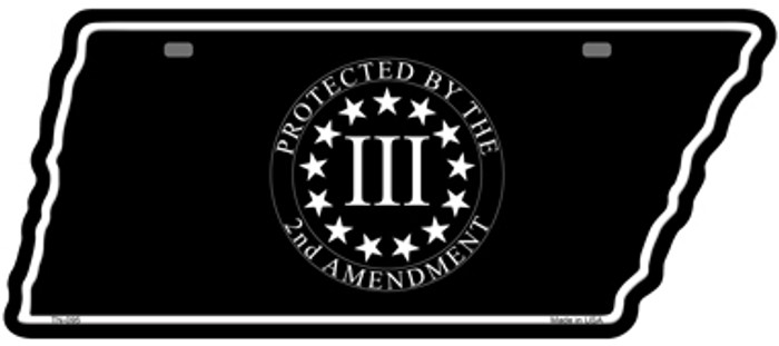 2nd Amendment Three Percenter Novelty Metal Tennessee License Plate Tag TN-095