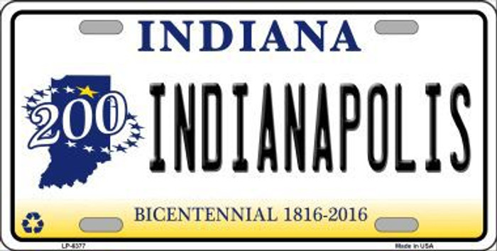 Indianapolis Indiana Novelty Metal License Plate