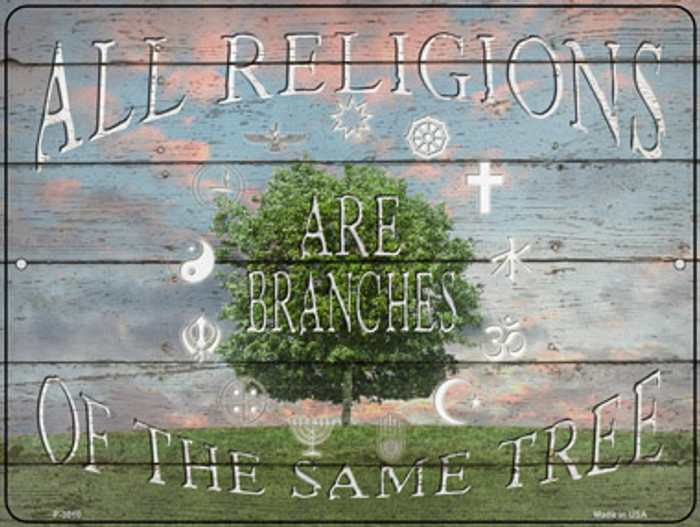 All Religions Novelty Metal Parking Sign P-3010