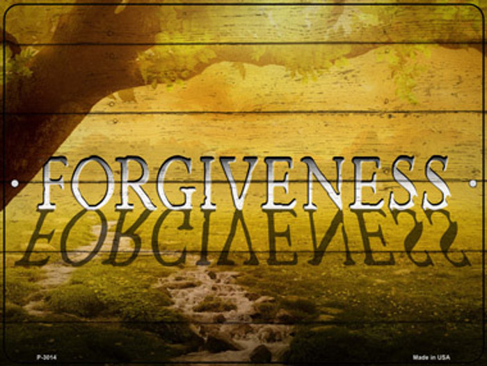 Forgiveness Novelty Metal Parking Sign P-3014