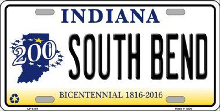 South Bend Indiana Novelty Metal License Plate