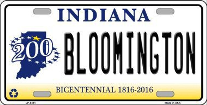 Bloomington Indiana Novelty Metal License Plate