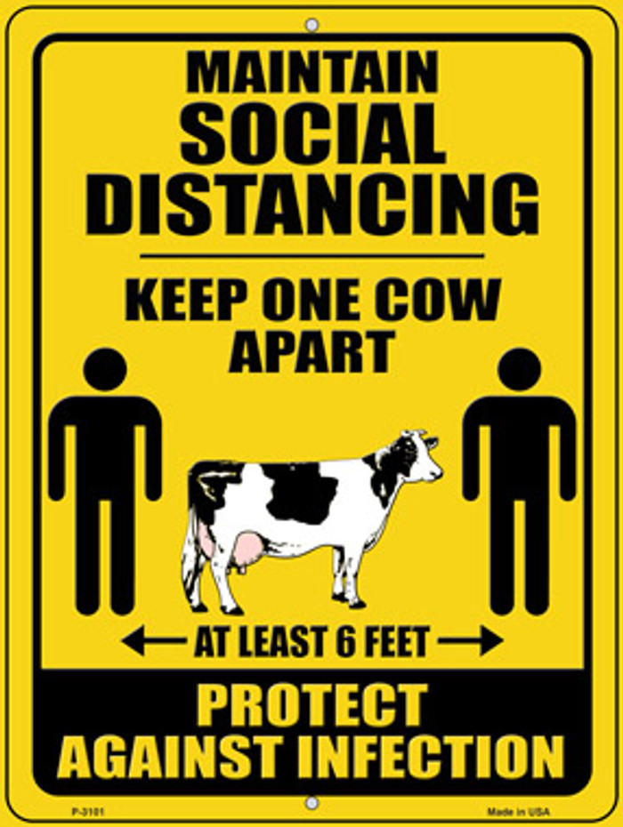 Keep One Cow Apart Novelty Metal Parking Sign P-3101