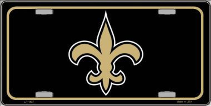 Fleur de lis Metal Novelty License Plate