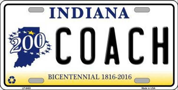Coach Indiana Novelty Metal License Plate