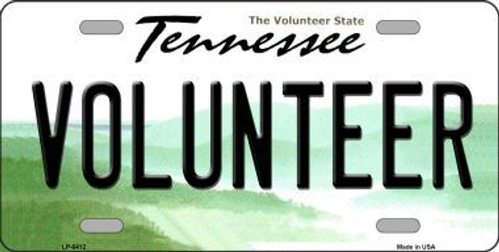 Volunteer Tennessee Novelty Metal License Plate