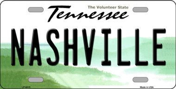 Nashville Tennessee Novelty Metal License Plate