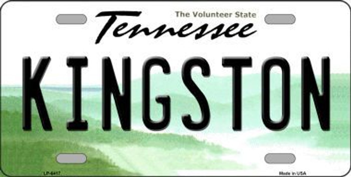 Kingston Tennessee Novelty Metal License Plate