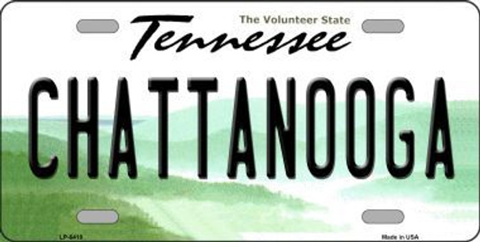 Chattanooga Tennessee Novelty Metal License Plate