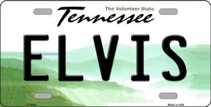 Elvis Tennessee Novelty Metal License Plate