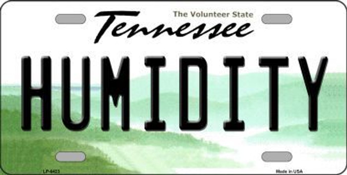 Humidity Tennessee Novelty Metal License Plate