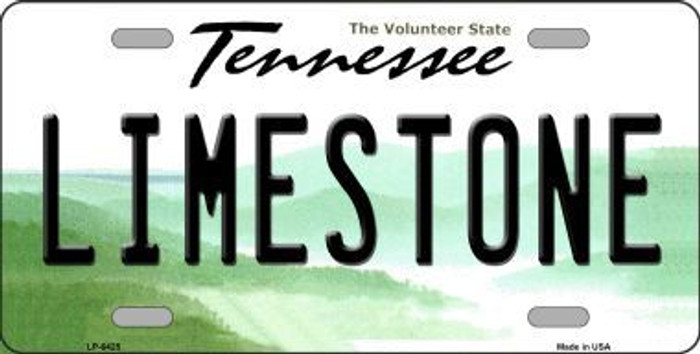 Limestone Tennessee Novelty Metal License