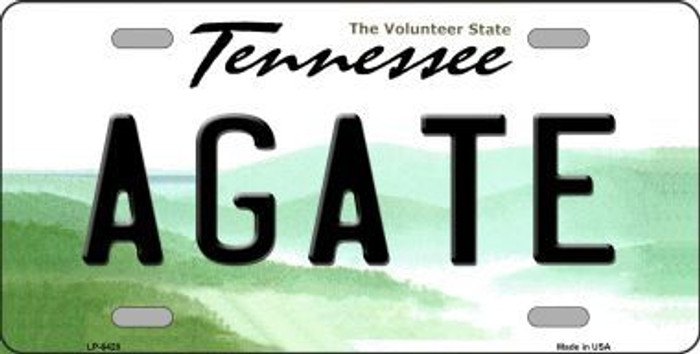 Agate Tennessee Novelty Metal License Plate