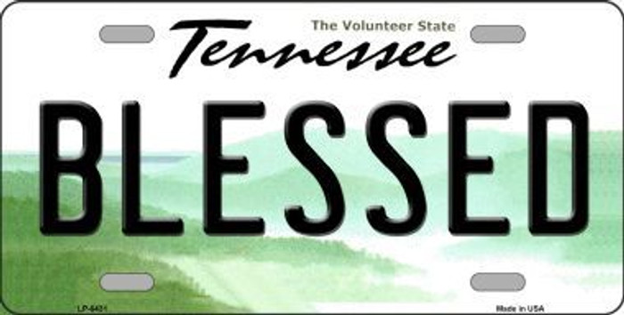 Blessed Tennessee Novelty Metal License Plate