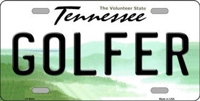 Golfer Tennessee Novelty Metal License Plate