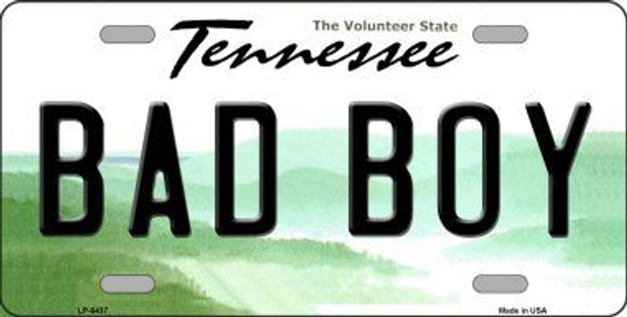 Bad Boy Tennessee Novelty Metal License Plate