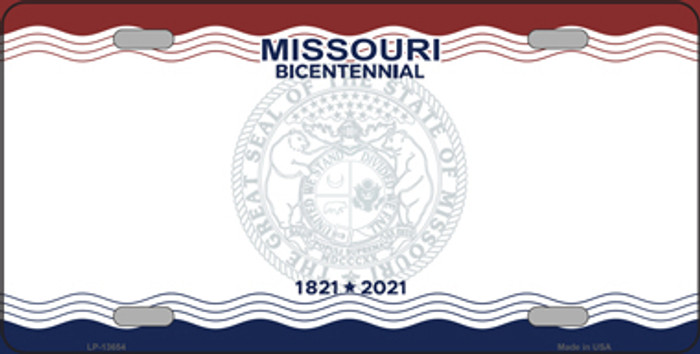 Missouri Bicentennial Novelty State Blank Metal License Plate Tag LP-13654