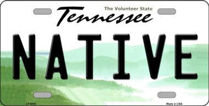 Native Tennessee Novelty Metal License Plate