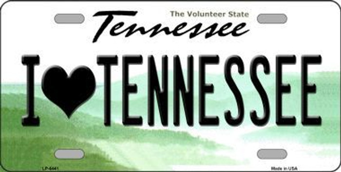 I Love Tennessee Novelty Metal License Plate