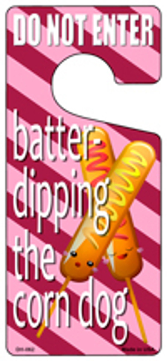 Batter Dipping The Corn Dog Novelty Metal Door Hanger DH-062