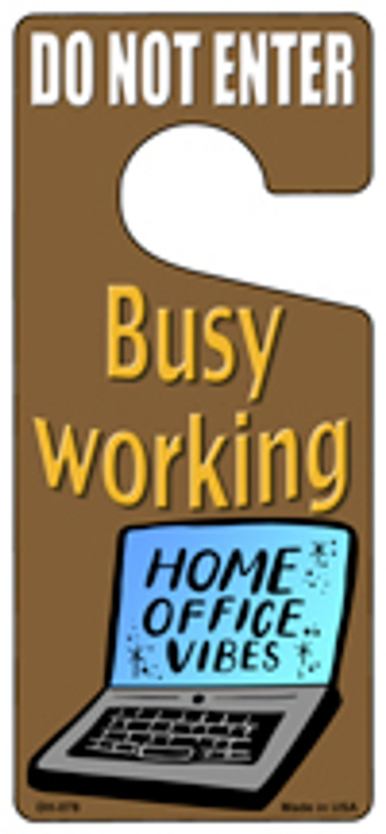Busy Working Novelty Metal Door Hanger DH-078