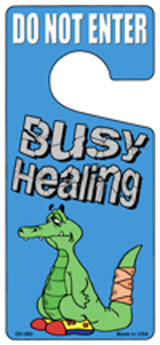 Busy Healing Novelty Metal Door Hanger DH-082