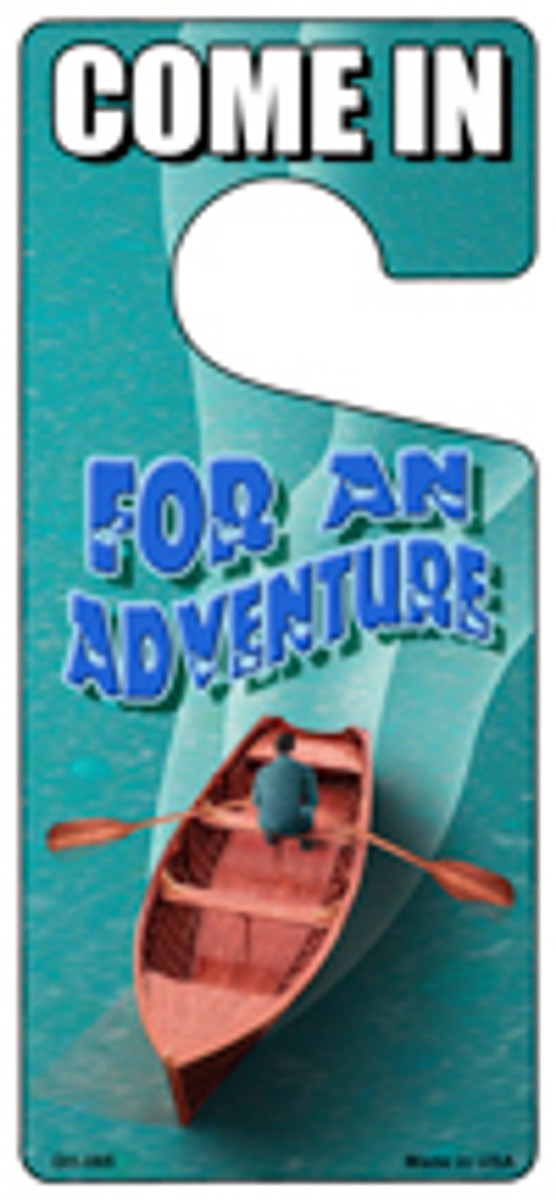 For An Adventure Novelty Metal Door Hanger DH-085