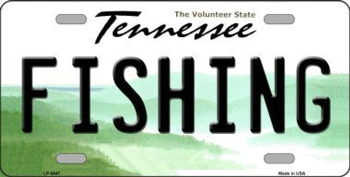 Fishing Tennessee Novelty Metal License Plate