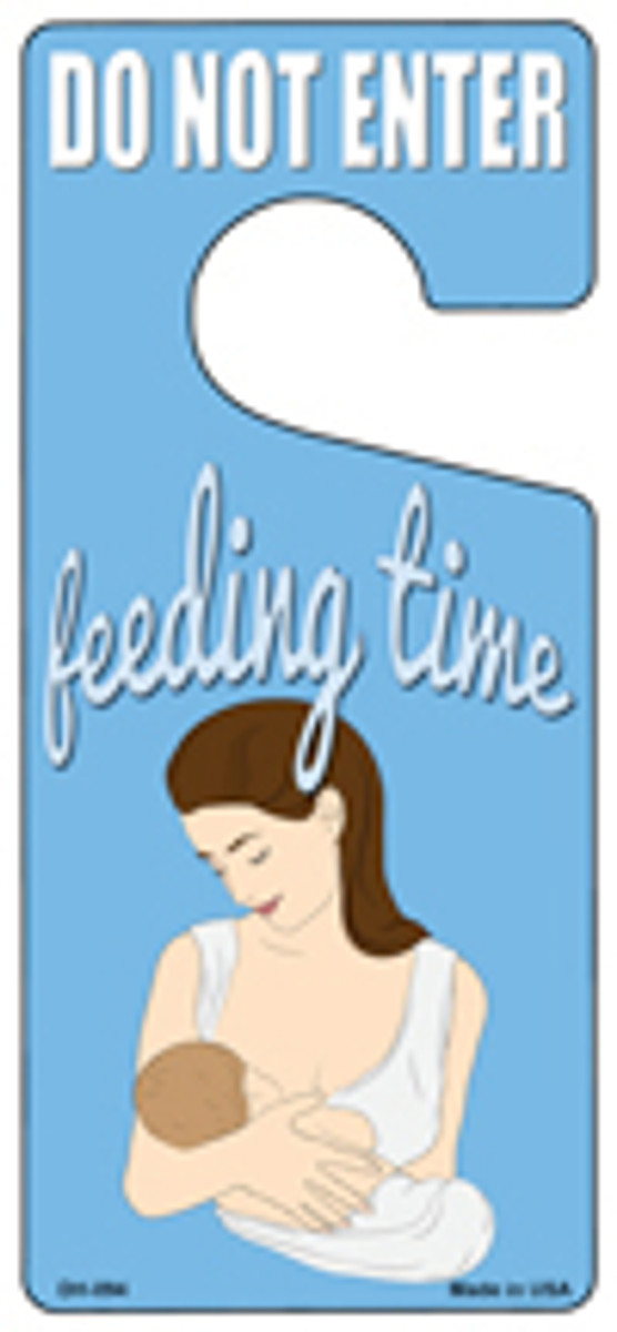 Feeding Time Blue Novelty Metal Door Hanger DH-094