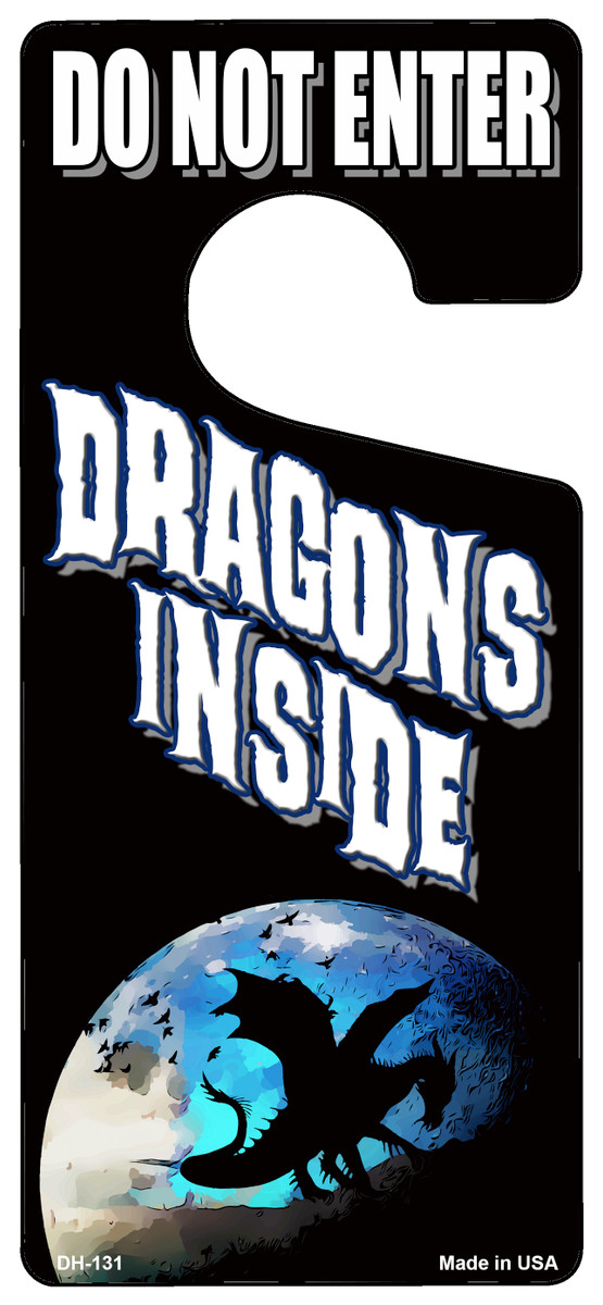 Dragons Inside Novelty Metal Door Hanger DH-131