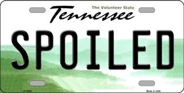 Spoiled Tennessee Novelty Metal License Plate