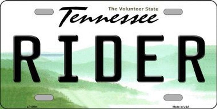 Rider Tennessee Novelty Metal License Plate