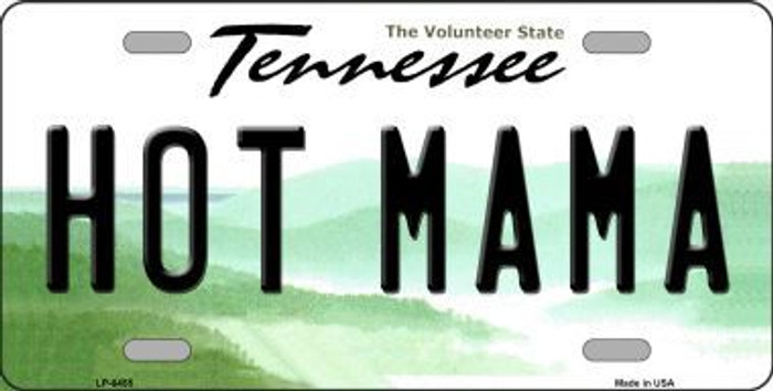 Hot Mama Tennessee Novelty Metal License Plate